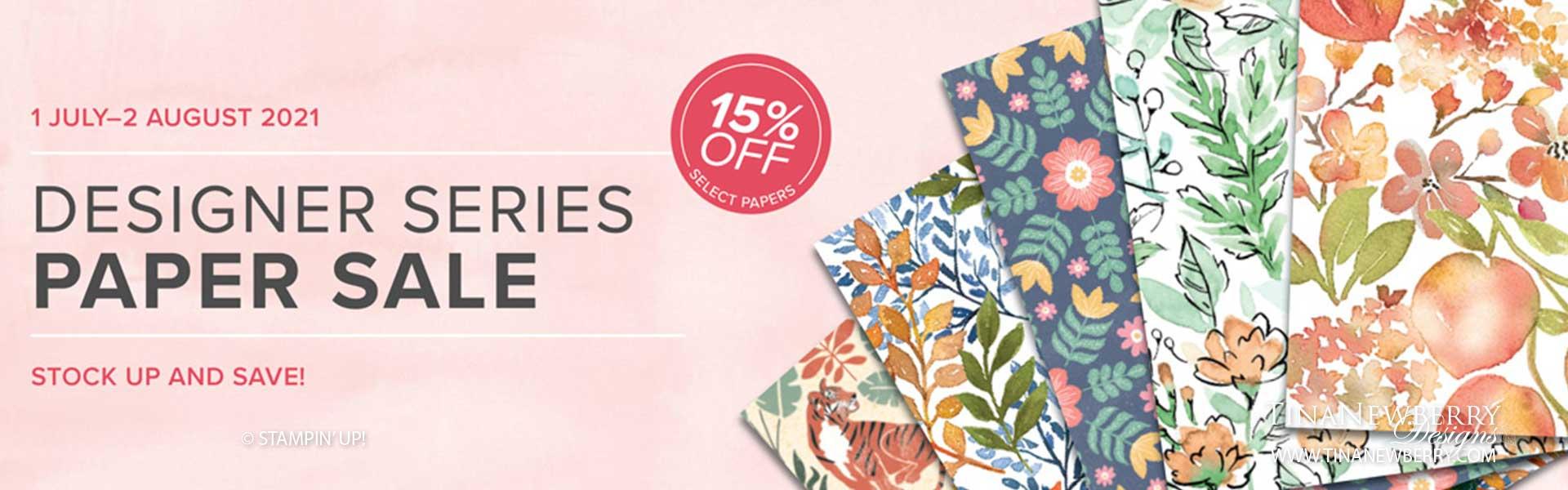 Save 15% on Designer Series Paper